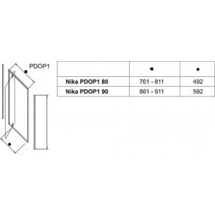 Душевые двери Ravak PIVOT PDOP 1 - 90 Transparent, полированый алюминий, безопасное стекло, 03G70C00
