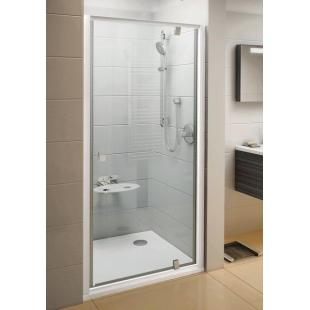 Душевые двери Ravak PIVOT PDOP 1 - 80 Transparent, белый профиль, безопасное стекло, 03G40100Z1