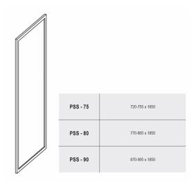 Стенка для душевой кабинки Ravak SUPERNOVA PSS-75 Pearl, белый профиль, пластик, 9403010011