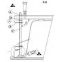 Крепление для фронтальной панели Ravak MAGNOLIA, B2D000000N