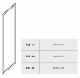 Стенка для душевой кабинки Ravak SUPERNOVA PSS-80 Pearl, белый профиль, пластик, 9404010011