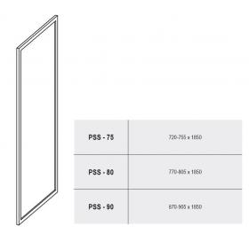 Стенка для душевой кабинки Ravak SUPERNOVA PSS-80 Grape, белый профиль, стекло, 94040100ZG