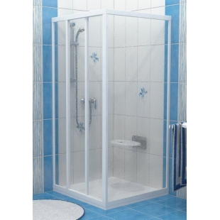 Стенка для душевой кабинки Ravak SUPERNOVA PSS-80 Transparent, белый профиль, стекло, 94040100Z1