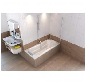 Штора для ванны Ravak PVS1 - 80 TRANSPARENT полированный алюминий, 79840C00Z1