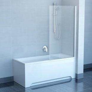 Шторка для ванны Ravak PVS1 - 80 TRANSPARENT профиль сатин, 79840U00Z1