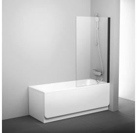 Шторка для ванны Ravak PVS1 - 80 TRANSPARENT черный профиль, 79840300Z1