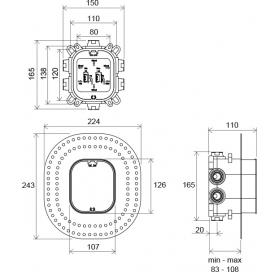 Вмонтированый механизм Ravak R-box Vari RB 072.50, X070139