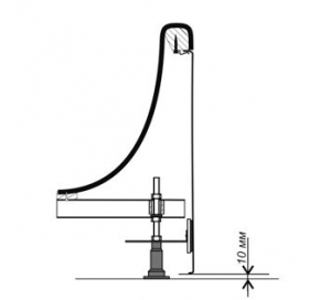 Крепление для панели Ravak CLASSIC, VANDA II, SONATA, CHROME, FRESIA, NERIDA, B23600000N
