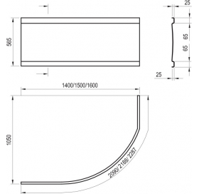 Панель для ванны Ravak ROSA I 160 L/R (CZL1000A00)