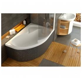 Штора для ванны Ravak CVSK1 Rosa 140/150 L TRANSPARENT сатин профиль, 7QLM0U00Y1