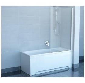 Штора для ванны Ravak CVS1 - 80 R TRANSPARENT сатин профиль, 7QR40U00Z1