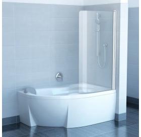 Штора для ванны Ravak CVSK1 Rosa 160/170 R TRANSPARENT сатин профиль, 7QRS0U00Y1