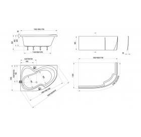 Ванна акриловая Ravak ROSA II 150 CK21000000 L