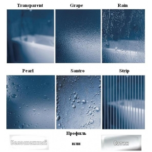 Душевые двери Ravak SUPERNOVA SDOP - 90 Grape, белый профиль, стекло, 03V70100ZG