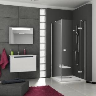 Стенка для душевой кабинки Ravak SMARTLINE SMPS - 100 R Transparent, фурнитура хром, безопасное стек