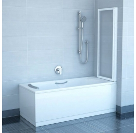 Шторка для ванны Ravak VS2 - 105 RAIN белый профиль, 796M010041