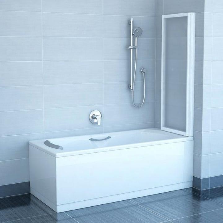 Шторка для ванны Ravak VS2 - 105 RAIN профиль сатин, 796M0U0041