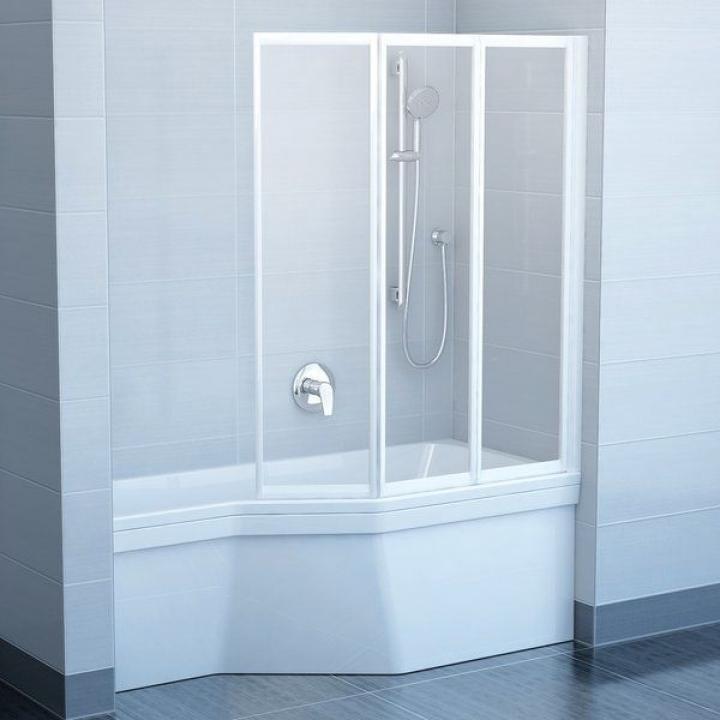 Шторка для ванны Ravak VS3 - 130 GRAPE белый профиль, 795V0100ZG