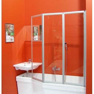 Шторка для ванны Ravak VS3 - 115 TRANSPARENT профиль сатин, 795S0U00Z1