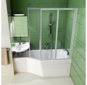Шторка для ванны Ravak VS3 - 100 RAIN белый профиль, 795P010041