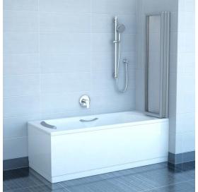 Шторка для ванны Ravak VS3 - 130 TRANSPARENT белый профиль, 795V0100Z1