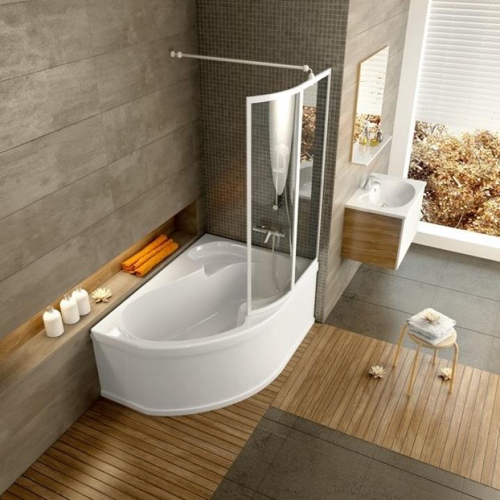 Шторка для ванны Ravak VSK2 ROSA - 150 R Rain, 76P8010041