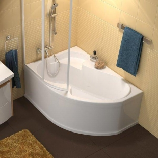 Шторка для ванны Ravak VSK2 ROSA - 160 L Rain, 76L9010041