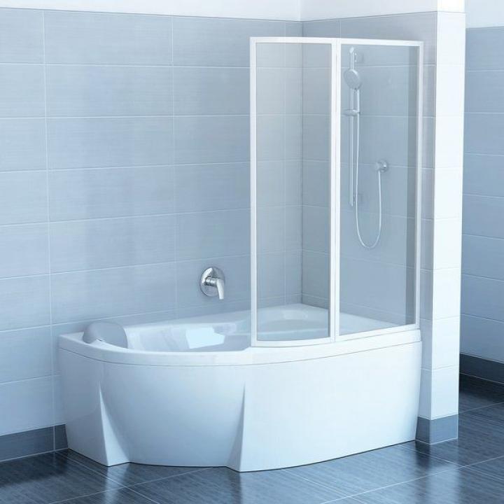 Шторка для ванны Ravak VSK2 ROSA - 160 R Rain, 76P9010041