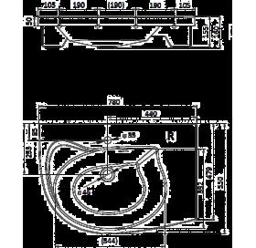 Раковина мебельная Ravak ROSA Comfort 78 см, правая, XJ8P11N0000