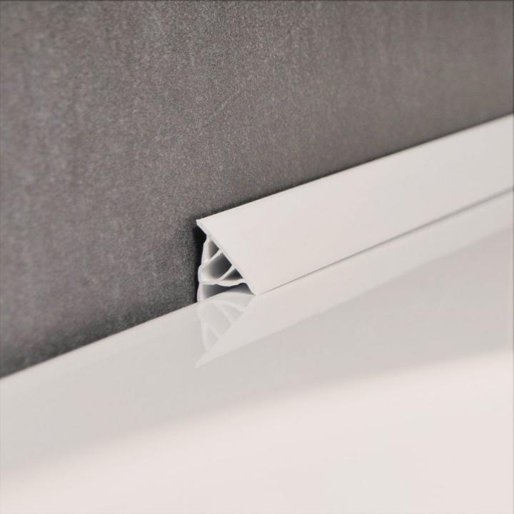 Декоративная планка для ванны NEW 11 мм / 2 м, белая