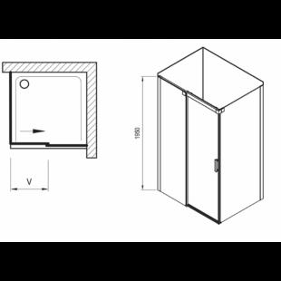 Душевой уголок Ravak Matrix MSDPS-120/80 R полированный алюминий+Transparent, 0WPG4C00Z1
