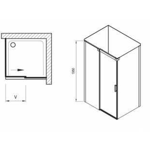 Душевой уголок Ravak Matrix MSDPS-120/80 L полированный алюминий+Transparent, 0WLG4C00Z1