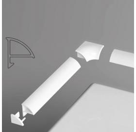 Набор для декоративной планки 6 мм белый, B440000001