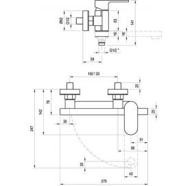 Излив для умывальника/ванны Ravak Chrome CR 027.00, X07P113