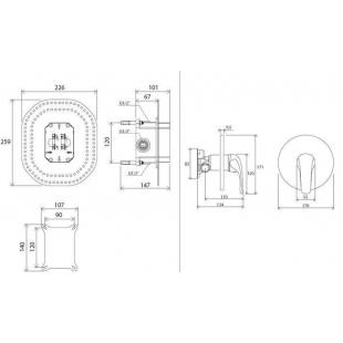 Смеситель скрытого монтажа для R-box Ravak Rosa RS 066.00, X070049