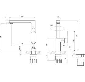 Смеситель для кухни Ravak Chrome CR 016.00, X070054