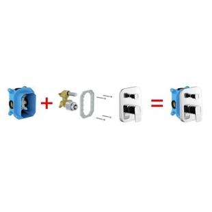 Смеситель скрытого монтажа Ravak 10* с переключателем для R-box TD 065.00, X070070