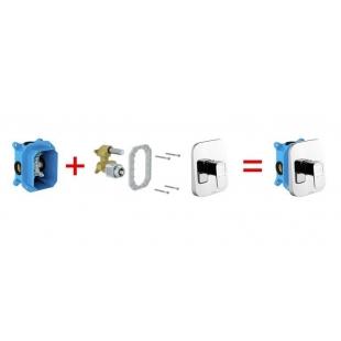 Смеситель скрытого монтажа Ravak 10* без переключателя для R-box TD 066.00, X070071