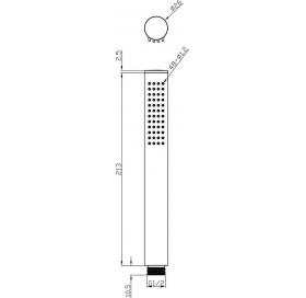 Лейка ручного душа Ravak Chrome 957.00, X07P007