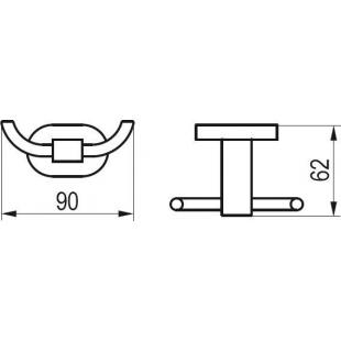 Двойной крючек Ravak CR 100, X07P186