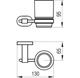 Держатель со стаканом д/зубних щеток (стекло) Ravak CR 210, X07P188