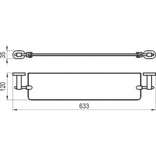 Полка стеклянная 64 см Ravak CR 500, X07P195