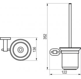 Щетка для унитаза с держателем (стекло) Ravak CR 410, X07P196