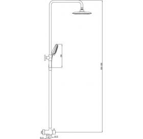 Подвижная душевая штанга Ravak DS 090.00, X07P232