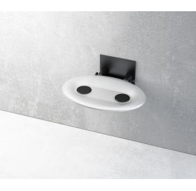 Сиденье для душа Ravak OVO-P, матово-белый/черный, B8F0000043