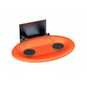 Сиденье для душа Ravak OVO-P, оранжевый/черный, B8F0000044