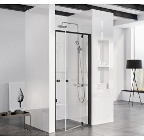 Душевые двери Ravak PIVOT PDOP1-90, черный + TRANSPARENT, 03G70300Z1