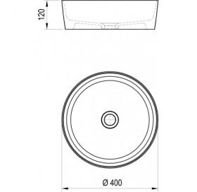 Умывальник Ravak Uni 400, белый, XJX01140002