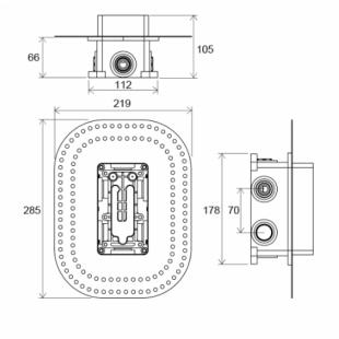 Трехрежимный термостатический смеситель скрытого монтажа Ravak, X070075