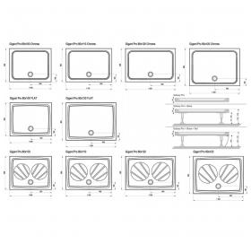 Поддон для душевых кабин Ravak GIGANT 100x80, прямоугольный, XA01A401210